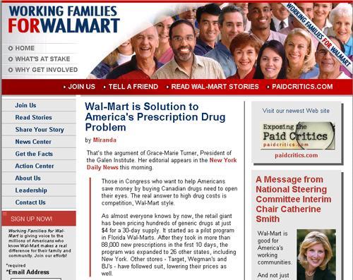 Wal-Mart fake blog