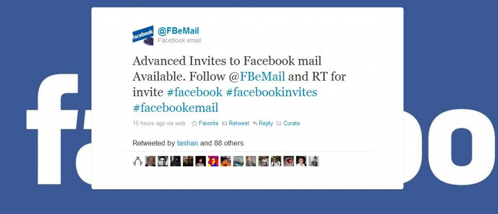 Facebook mail invites