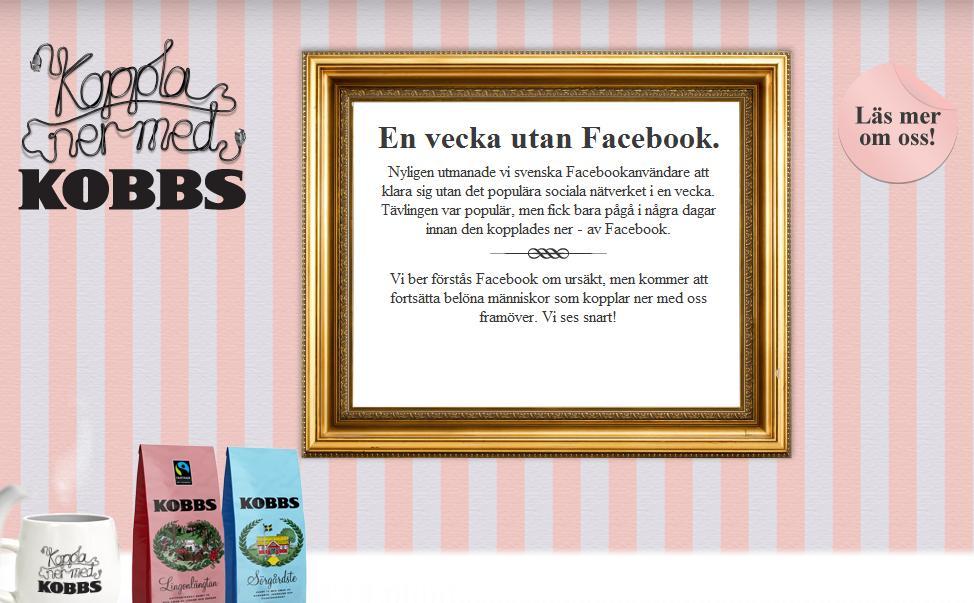 Contest shut down by Facebook