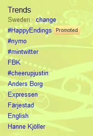 twitter trending topics sweden