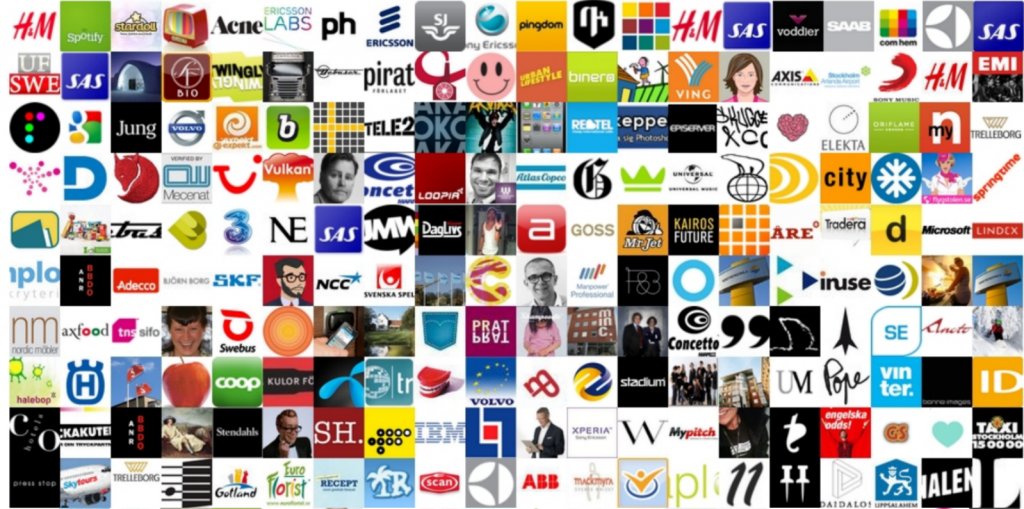 Swedish brands, avatars on Twitter - by www.kullin.net