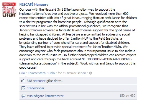 NESCAFE Hungary Facebook