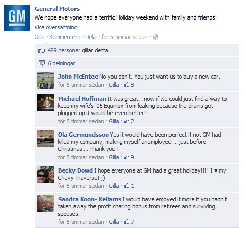 General Motors comment bonus