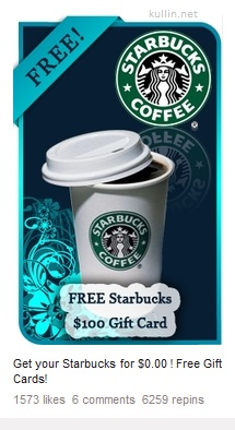 pinterest spam ad starbucks