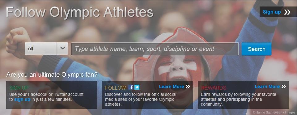 London 2012 Olympics social media Hub