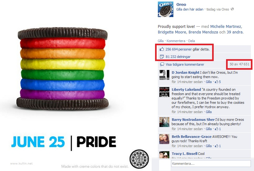 Oreo Pride cookie