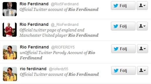 rio ferdinand twitter