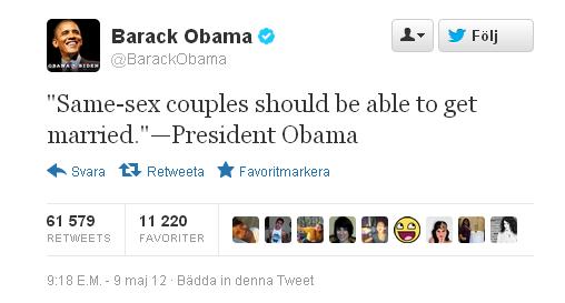 Twitter BarackObama tweet