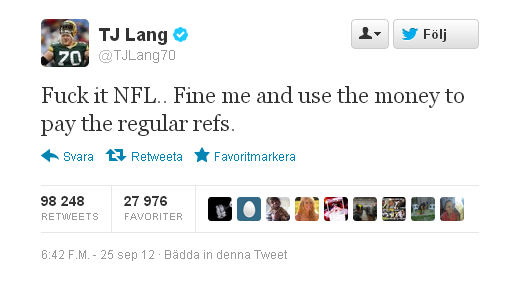 most retweeted tweet NFL