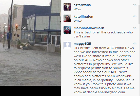 instagram hurricane sandy