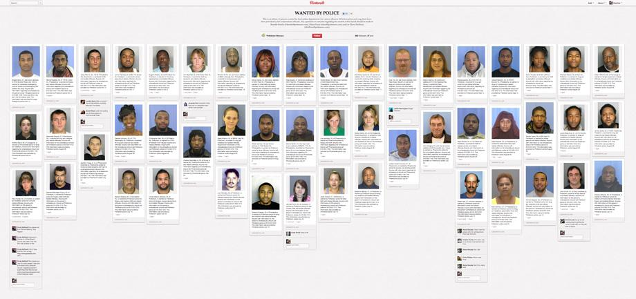 mugshots-pinterest wanted by police