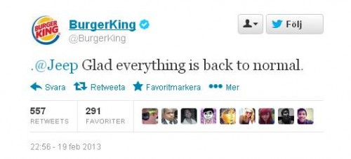 burger king hacked twitter tweet