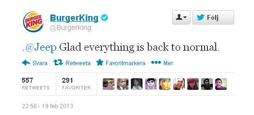 burger king hacked twitter tweet