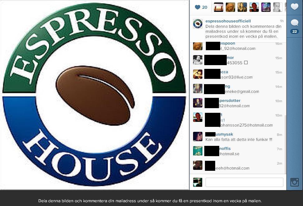 espresso house instagram