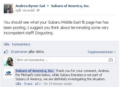 subaru america facebook