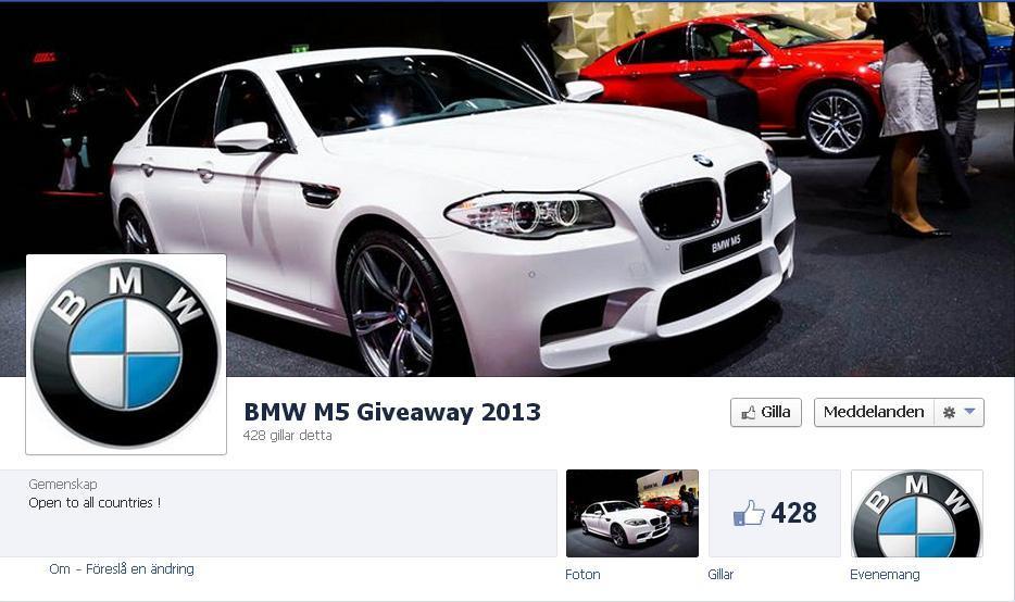 bmw m5 giveaway