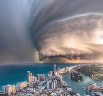 Fake Hurricane Dorian image